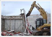 大型看板撤去工事